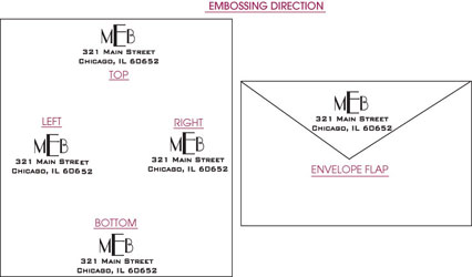 designer address monogram embossers personal embossers style