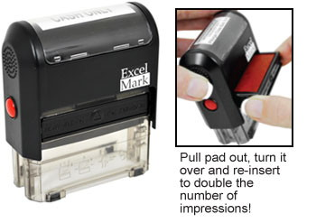medical stock self inking rubber stamp corrected claim